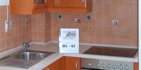 Konyha D1-03 - beépített sütővel és mosogató mendencével