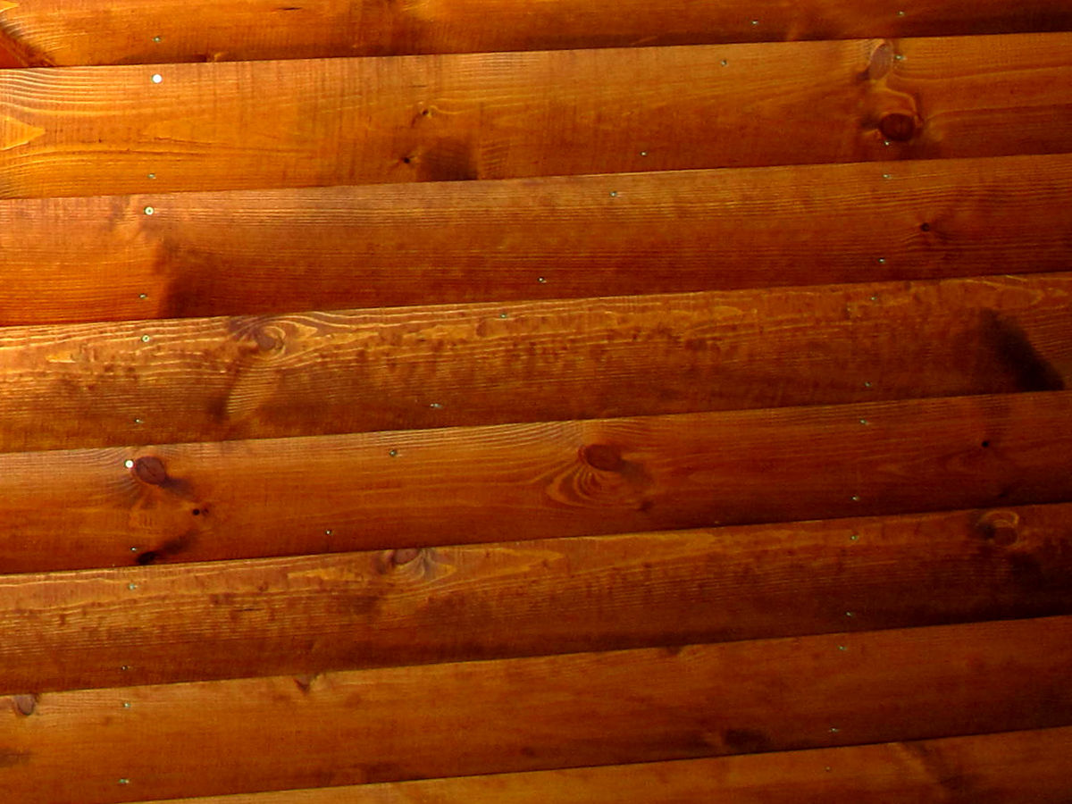 Faházburkoló / rönkhatású íves faházprofil